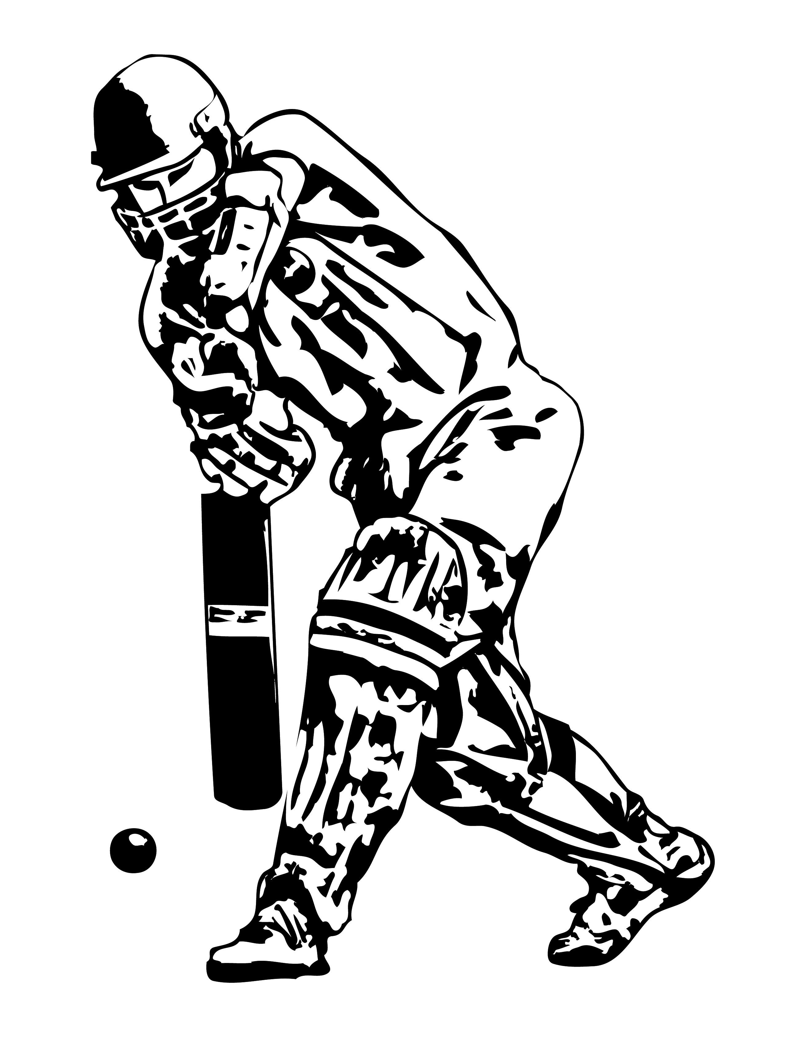 Bowling Cricket Drawing Cricket